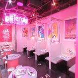 【テーブル席/4名様×7卓】店内の雰囲気も料理も、しっかり楽しみたい方に!