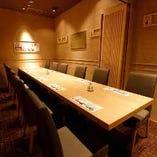 高級感あふれる上質な個室は4〜12名様までご利用可能