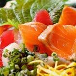 朝獲れ鮮魚の海鮮サラダ