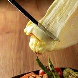 焼き野菜ラクレットチーズがけ