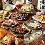 宴会コースは西田屋のおすすめをご堪能できる満足度高い内容