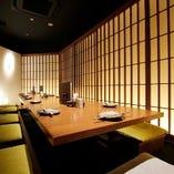 宴会にぴったりの個室は最大15名様までご利用可能。