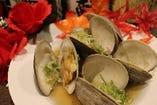 白蛤の酒蒸し(ハマグリ)