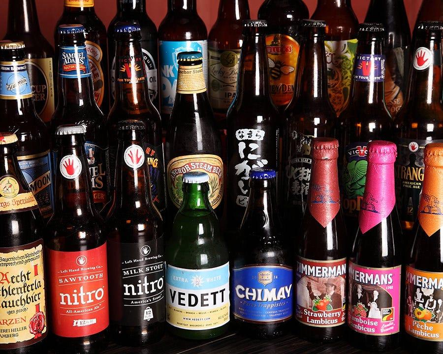 世界各国の30種類以上のクラフトビール