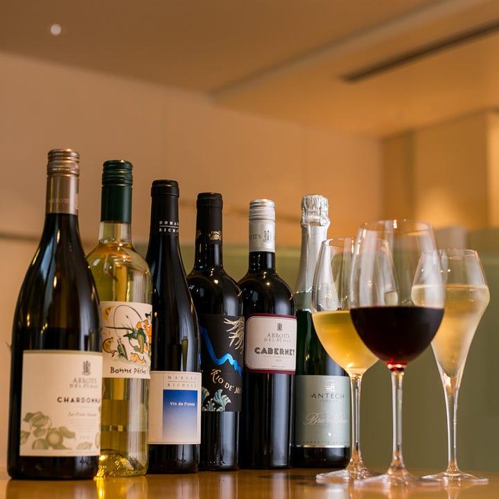 お料理やシーンに合わせてお選びいただけるワインは19種以上