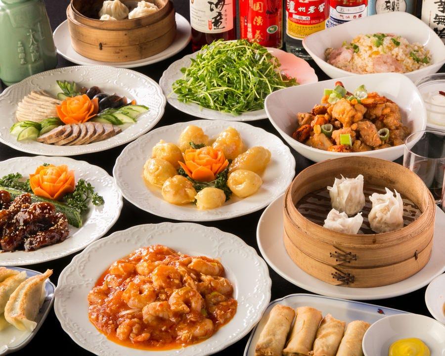 全72種の本格中華が味わえる食べ飲み放題コースは120分3,800円~