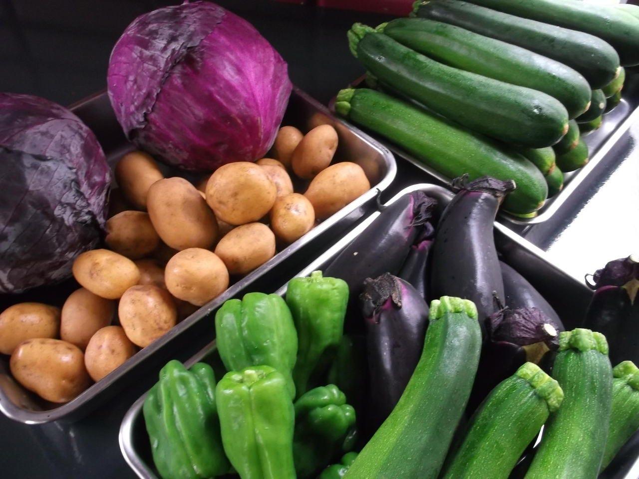 野菜は主に秩父の義姉の自畑より
