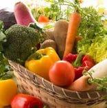 主に千葉県産の旬野菜(減農薬)を使用しております◎