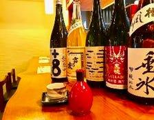 豊富な日本酒・地酒