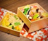◆お花見やご来客のおもてなしに・・◆ わかな特撰 二段折詰弁当「四季彩々(しきさいさい)」