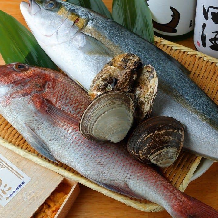 産地の漁師とタイアップ◎全国の旬魚