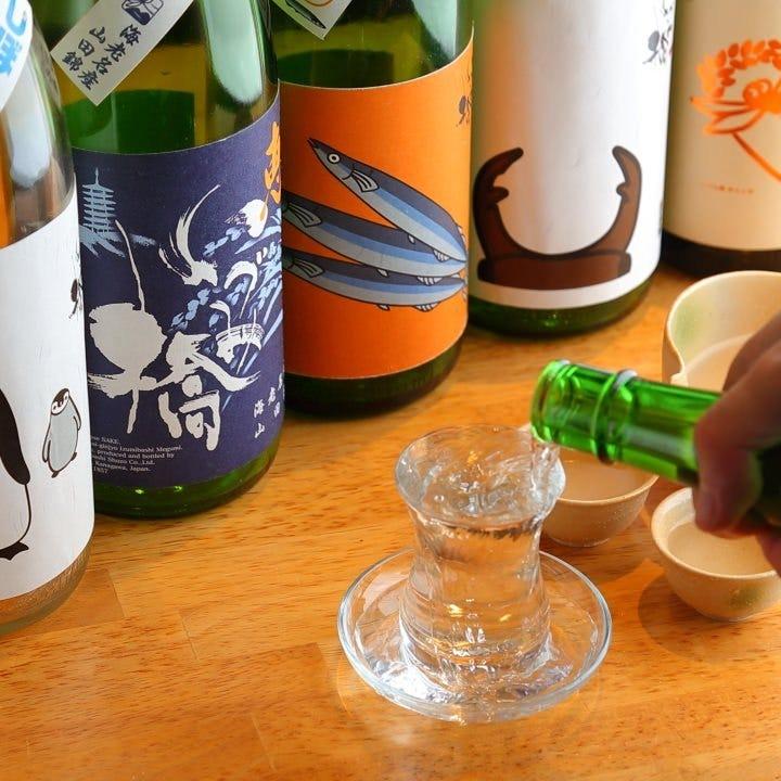 季節酒や地酒◎豊富な日本酒メニュー