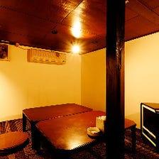 お座敷や掘りごたつなどの半個室完備