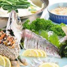 瀬戸内の旬の魚介料理が楽しめます
