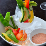 旬の野菜の明太子ディップ