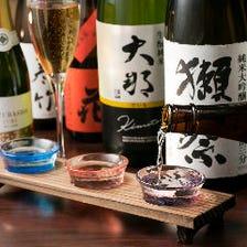 鉄板焼きを日本ならではのお酒で味う