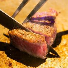 【★肉好きおすすめ★】ステーキ食べ比べ!ヒレ・サーロイン合い盛りステーキコース【デート・接待・宴会】