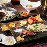 【コース】 厳選食材を使った鉄板焼きコース5,500円(税抜)~