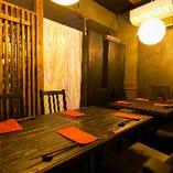 【個室】 最大8名様までご利用いただけるテーブル個室を完備