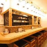 おひとり様もお気軽に楽しめるオープンキッチン&カウンター!