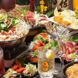 飲み放題付コースは3,980円~♪料理とお酒ご一緒に楽しめます!