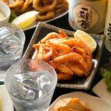 日本酒や焼酎に合うメニューもたくさん