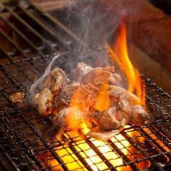 香鶏の炭火焼