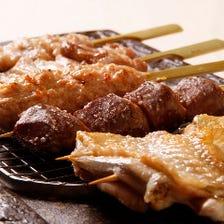 おすすめメニュー!銘柄鶏の串焼き