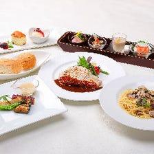 【当日OK!】前菜5種盛り合わせとパスタとメインが選べる【匠TAKUMIコース】 3,300円