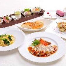 『団欒~DANRAN~』季節前菜5種とパスタ、メインは真鯛orポークグリル≪ランチ食事会&ママ友会≫