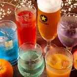 【多彩なドリンク】 宴会コースや単品で『飲み放題』もご用意!