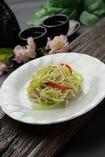 干し豆腐とセロリのサラダ