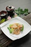 海老と野菜のあっさり炒め