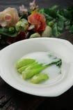 青梗菜のクリームソース
