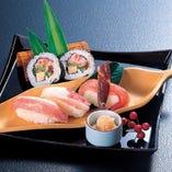 かに寿司盛合わせ