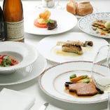 ディナーや記念日に最適なコース料理は4,800円からご用意