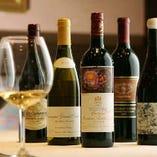 ワインも赤・白・シャンパン多数の品揃え 料理と一緒にどうぞ!