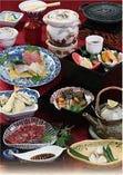 近江牛鉄板焼 季節の釜飯特別御膳(上造り・焼き物付き)