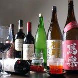 お酒の種類も豊富に取り揃えています。お好きなお酒をどうぞ☆