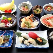 鮮魚に煮物や焼物など、素材の味を生かした『鮨会席コース』5,000円(税抜)