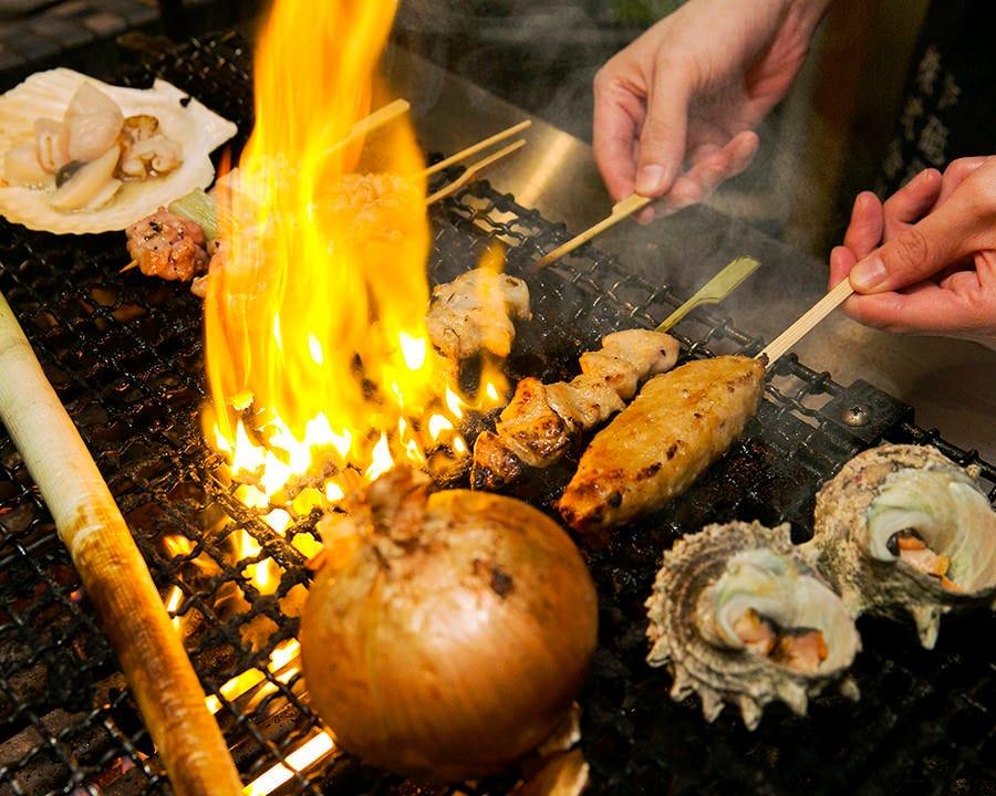 人気の串や焼き物も 存分にお楽しみ頂けます