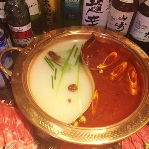 2H飲放題付き女子会火鍋コース4500円