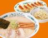 とんこつラーメン+半チャーハン+餃子セット