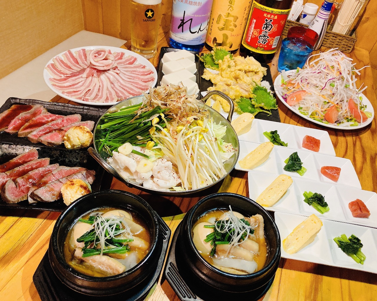 3種の味から選べるもつ鍋
