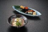 祝事会席 「蒸物」 甘鯛の蕪蒸し 箸休め お寿司色々