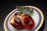 「夏の料理」 氷見牛のトマトグラタン