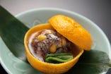 「冬の料理」 柚香蒸し