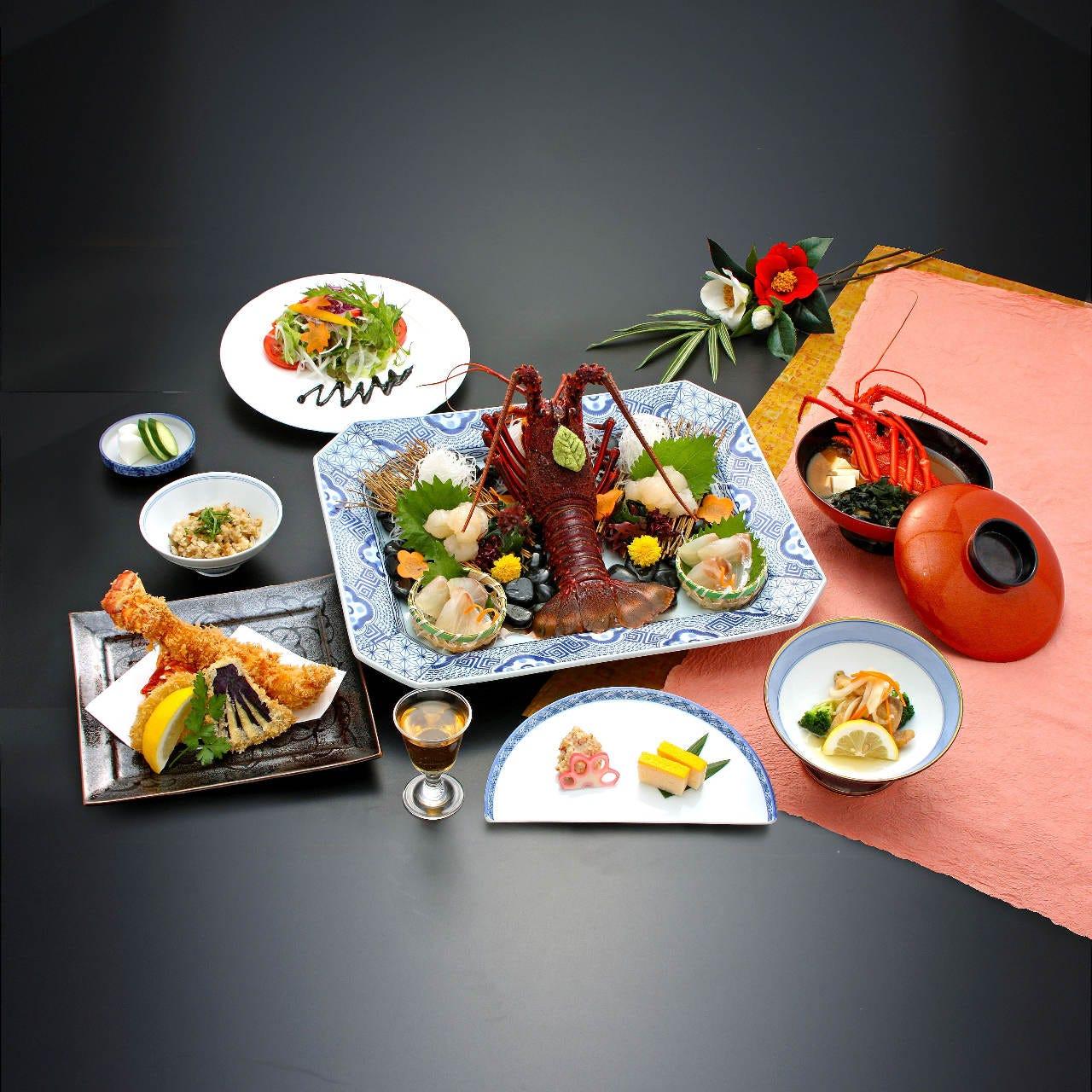お得な特別サービス付【宴(うたげ)コース】伊勢海老活造り・フライ・白身魚の南蛮漬など|全8品※アレンジ可