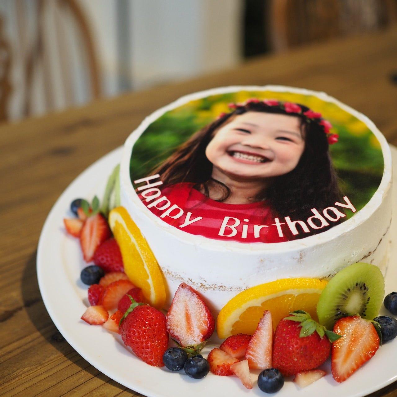 誕生日&記念日におすすめ 写真プリントケーキでサプライズプラン3500(税込)