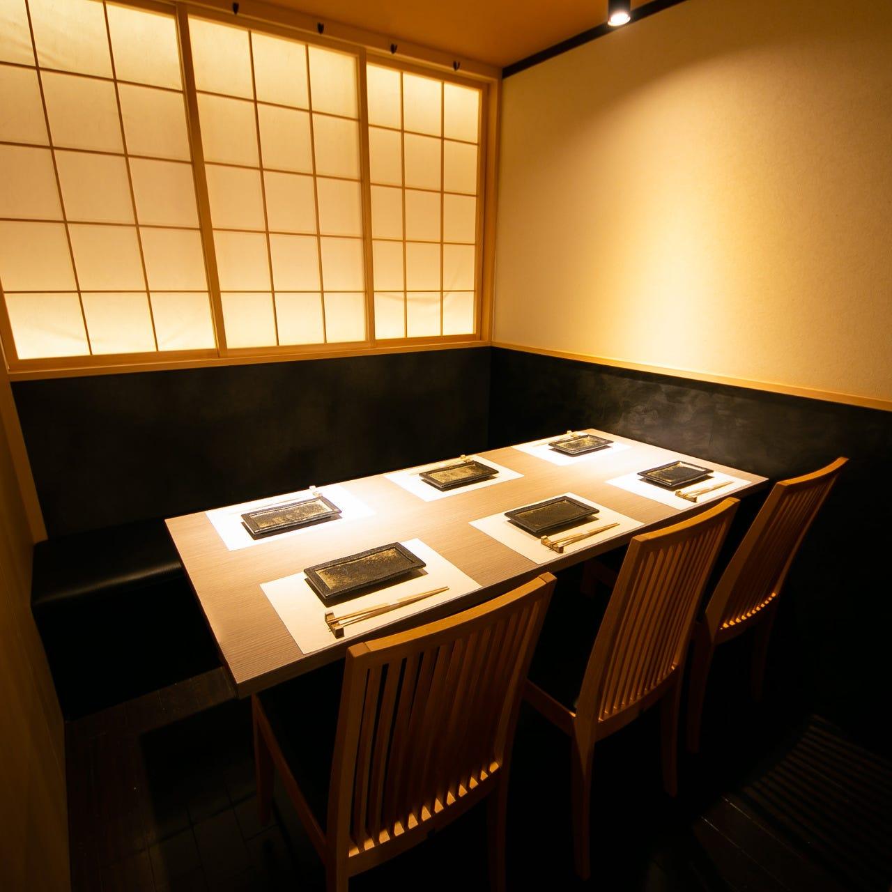 テーブル・掘りごたつ・完全個室(壁・扉あり)・2名様~25名様